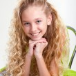 Little blond girl smiling — Stock Photo