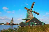 Windmills in Zaanse Schans — Stock Photo