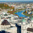 View over old town in Salzburg - Stock Photo