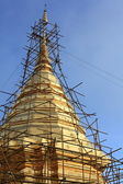 Temple Pagoda Reconstruction — Stock Photo