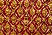 Thai Temple Golden Carving Wall Art, Suthep Temple, Chiangmai — Stock Photo