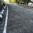 Stock Photo: Curve Concrete Steep Road