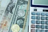 Para ve hesap makinesi — Stok fotoğraf