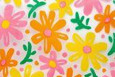 Flower print on the plastic — Stock Photo
