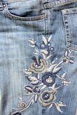 Tasca di jeans — Foto Stock