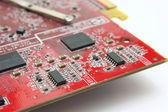 Elektronické platby na grafickou kartu — Stock fotografie