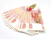 The Russian five-thousandth banknotes — Stock Photo