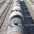 Train transports oil in tanks . — Stock Photo #4070581