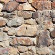 Stock Photo: Structure of a concrete and stone wall