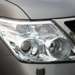 Closeup of car headlight — Foto Stock