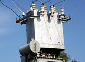 The electric transformer — Stock Photo