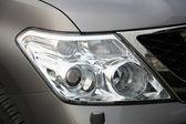 Närbild av bil strålkastare — Stockfoto
