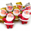 Some dolls of Santa Claus are together — Stock Photo #4218424