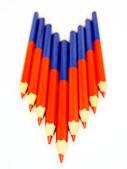 Kolorowe ołówki i — Zdjęcie stockowe