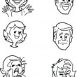 Various emotions - Stock Vector