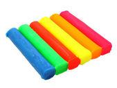 Color children's plasticine — Stok fotoğraf