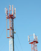 Aerial mobile communication — Stock Photo
