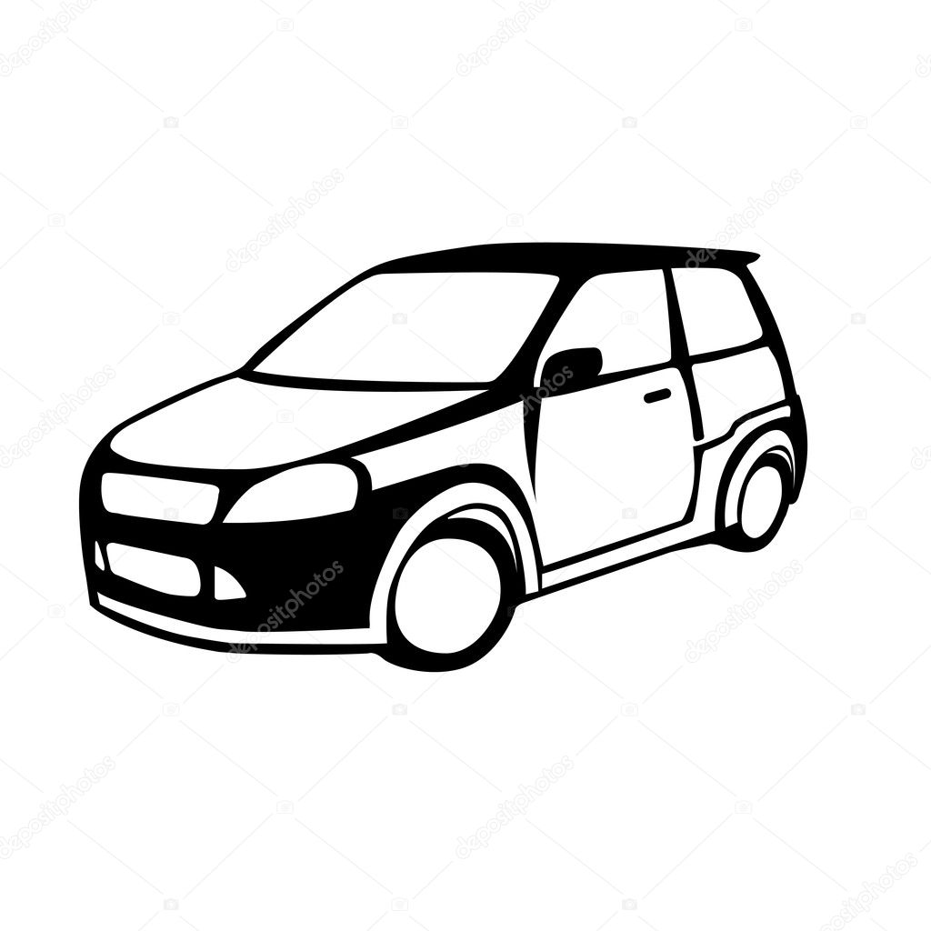Vector silhouette of the car against — Stock Vector #4470892