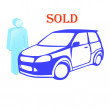 The car is sold — Stock Photo