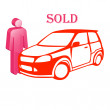 Stock Photo: The car is sold