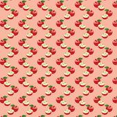 Naadloze patroon met appels op de groene achtergrond — Stockfoto
