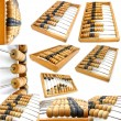 Set of accounting abacus for financial calculations — Stock Photo