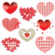 Royalty-Free Stock Photo: Vector set of Red Hearts