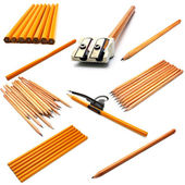 Set of yellow ground pencil — Stock Photo