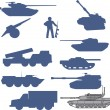 Stock Photo: Set tanks collection - vector