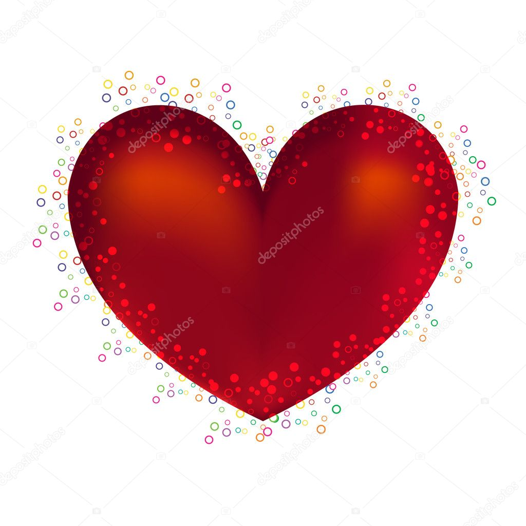 Red heart of love in day sacred valentine — Stock Photo #4529770