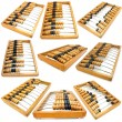 Set of accounting abacus for financial calculations — Stock Photo #4559805