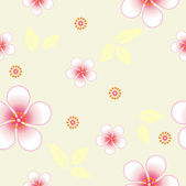 Seamless floral background. Repeat many times. — Stock Photo