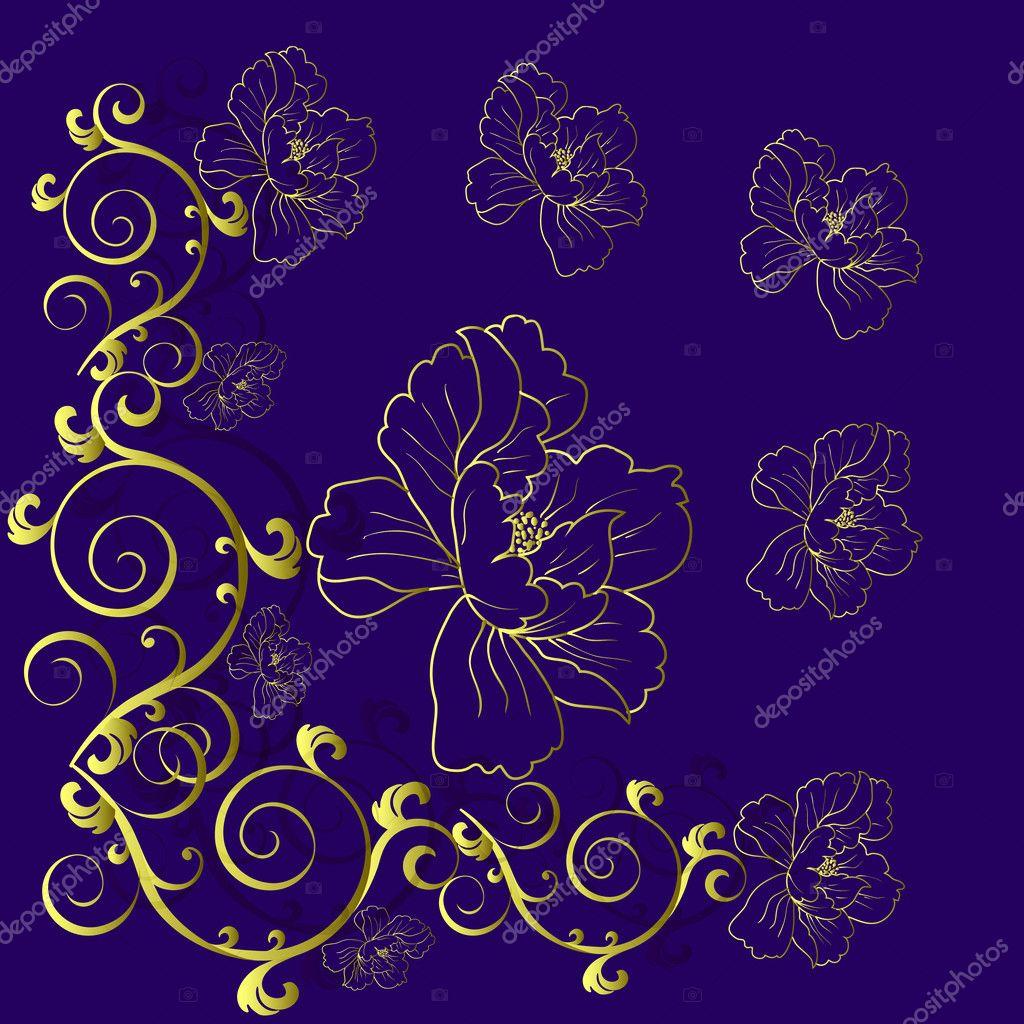 Fantasia fiori disegnati a mano foto stock aarrows for Fiori disegnati