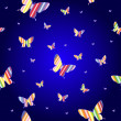 Abstract seamless wallpaper pattern butterflies — Foto Stock