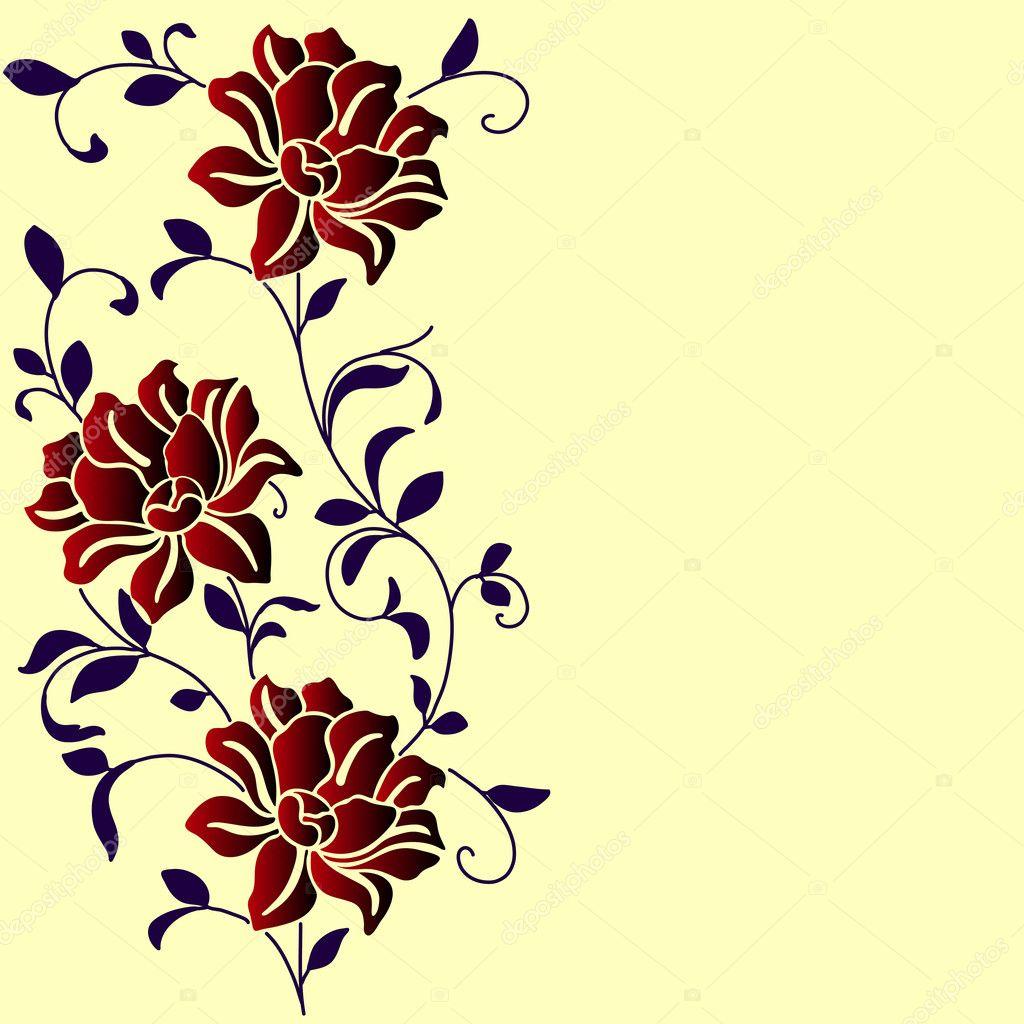 Узоры цветов рисунки