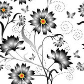 Elegance Seamless color pattern on background, vector illustrati — Stock Photo
