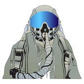 The military pilot — Stock Photo