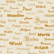 Peace . Seamless wallpaper with the word peace in different lang — 图库照片
