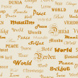 Peace . Seamless wallpaper with the word peace in different lang — Stock Photo #5376057