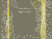 Merry Christmas and Happy New Year background — Stock Vector