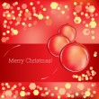 Merry Christmas greeting card — Stock Vector #4305407