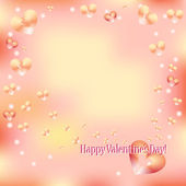 Bright Valentine's Day greeting card with hearts — Stock Vector