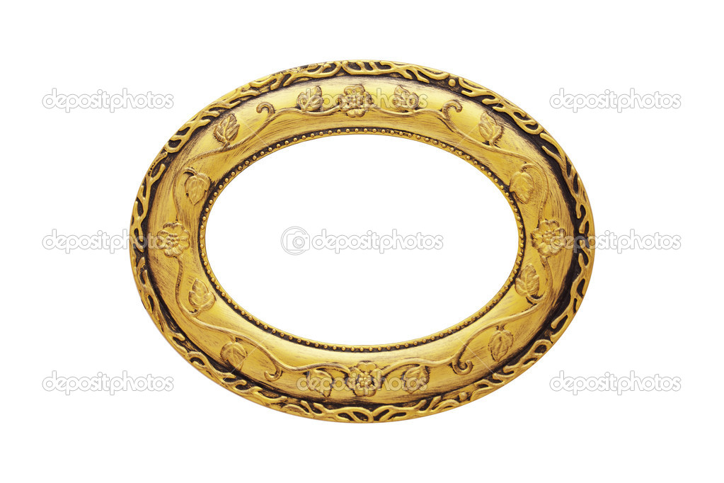 oval ornate frame stock photo 4003424