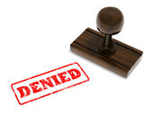 Denied rubber stamp — Stock Photo