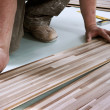 Home improvement, floor installation — 图库照片