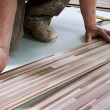 Home improvement, floor installation — Stock Photo