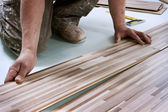 Home improvement, floor installation — Stockfoto