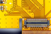 Printed circuit board connector — Stockfoto