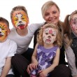 Foto Stock: Stylist painted kids