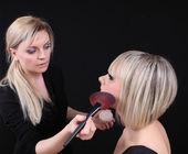 Woman stylist — Stock Photo